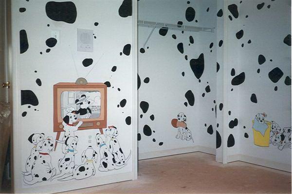 101 dalmatians kids mural