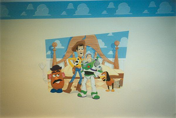 toy story kids mural
