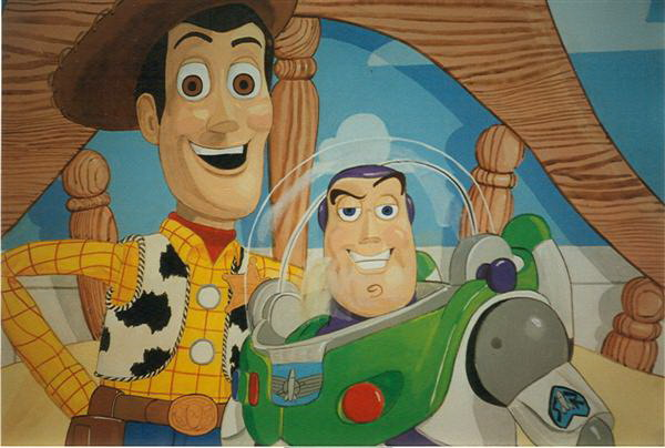 woody & buzz kids mural
