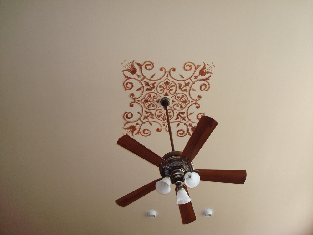 ceiling fan accent design