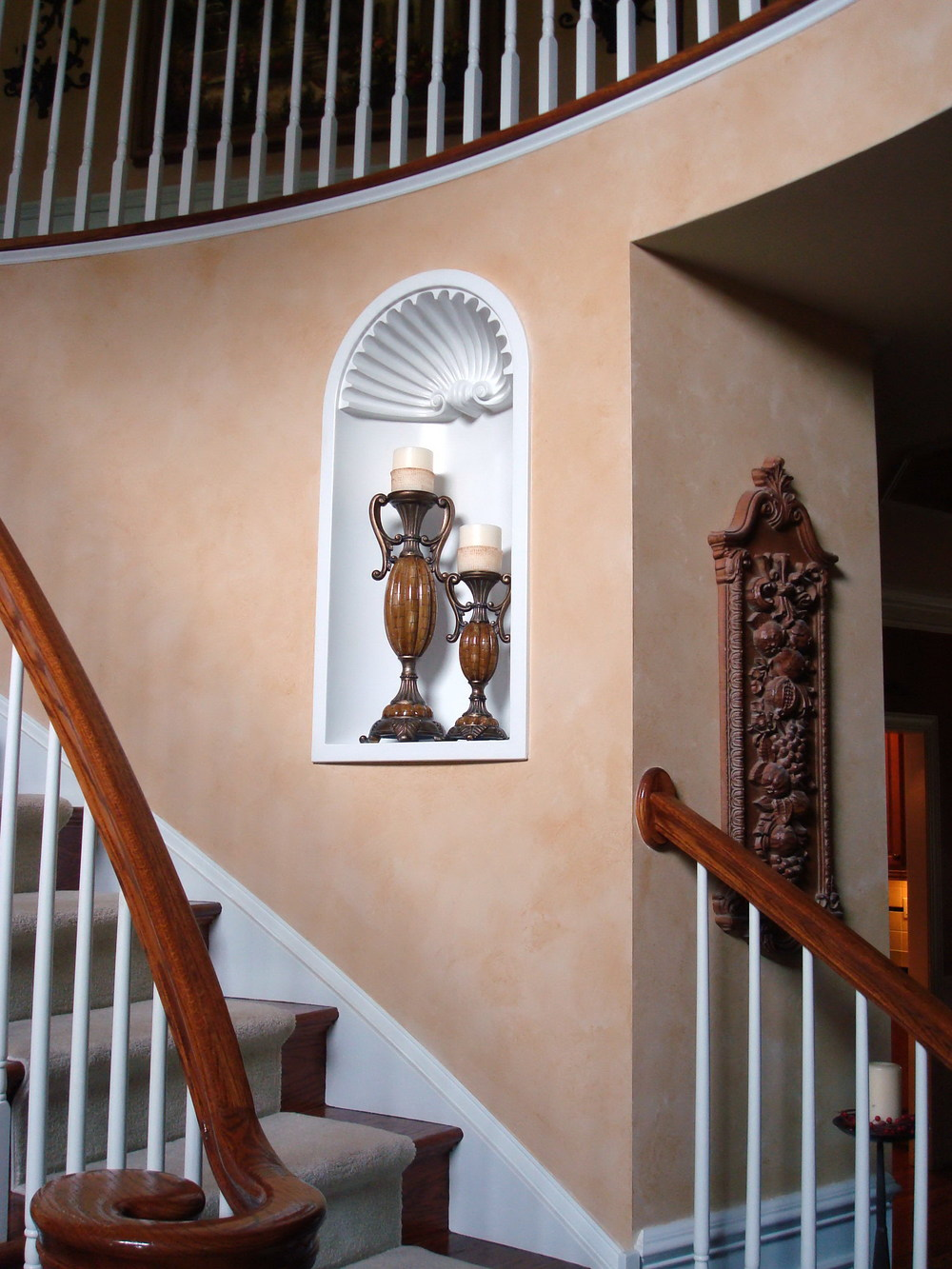stairway foyer faux painting