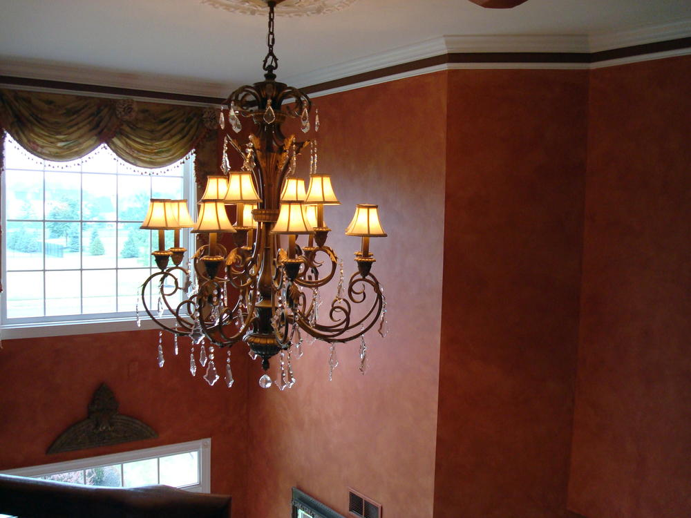 formal dining room faux painting