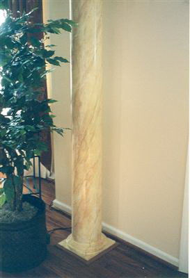 faux marble column painting