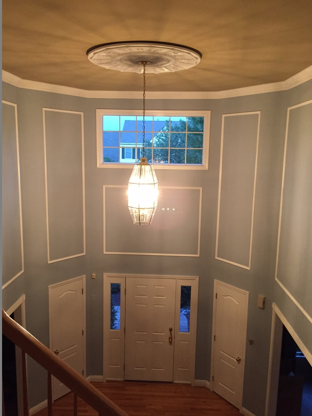 Two story foyer interior painting