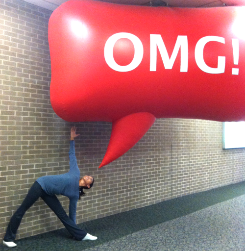 Snapped this photo at the Albany Airport after a week of training. OMG, left hand down, right hand up.