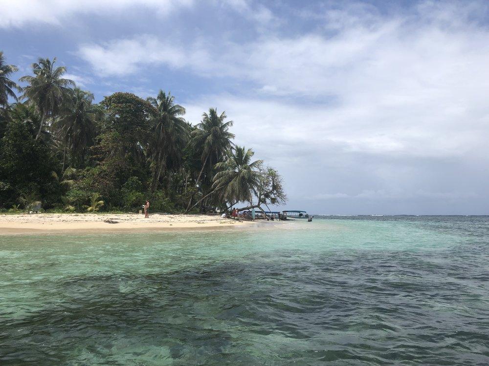 Isla Zapatillas, a protected, uninhabited island in the province of Bocas del Toro.
