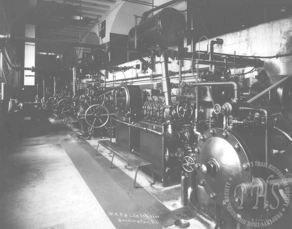 Interior of Powerhouse #2, Upper Bonnington (Hughes) - 1920