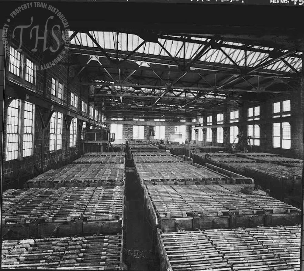 Copper Refinery, early electrolytic plant (Hughes) - 1920
