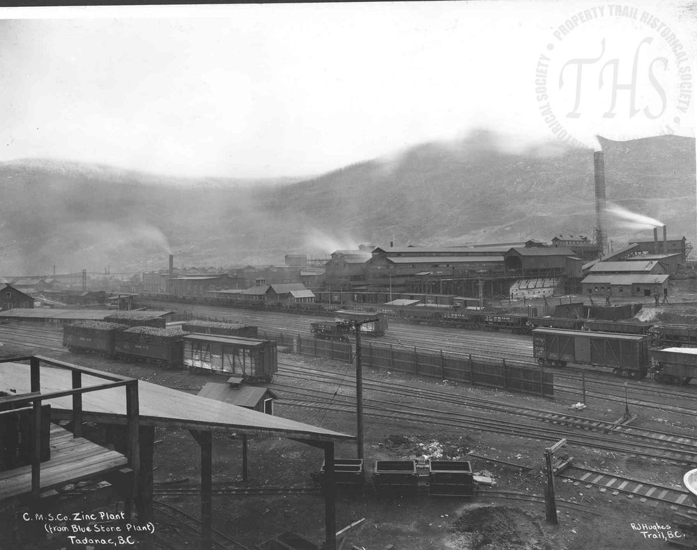 Zinc plant from blue store plant, Trail Smelter (Hughes) - 1920