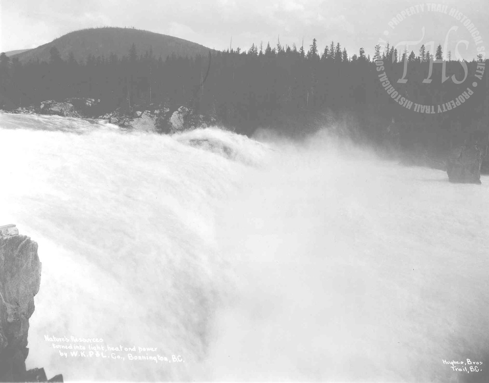 """Nature's Resources turned into light, heat and power"" – Bonnington Falls (Hughes) - 1925"