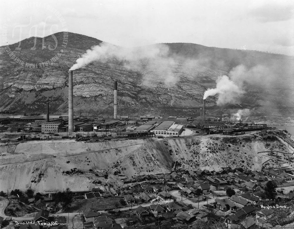 Smelter from West Trail (Hughes) - 1927