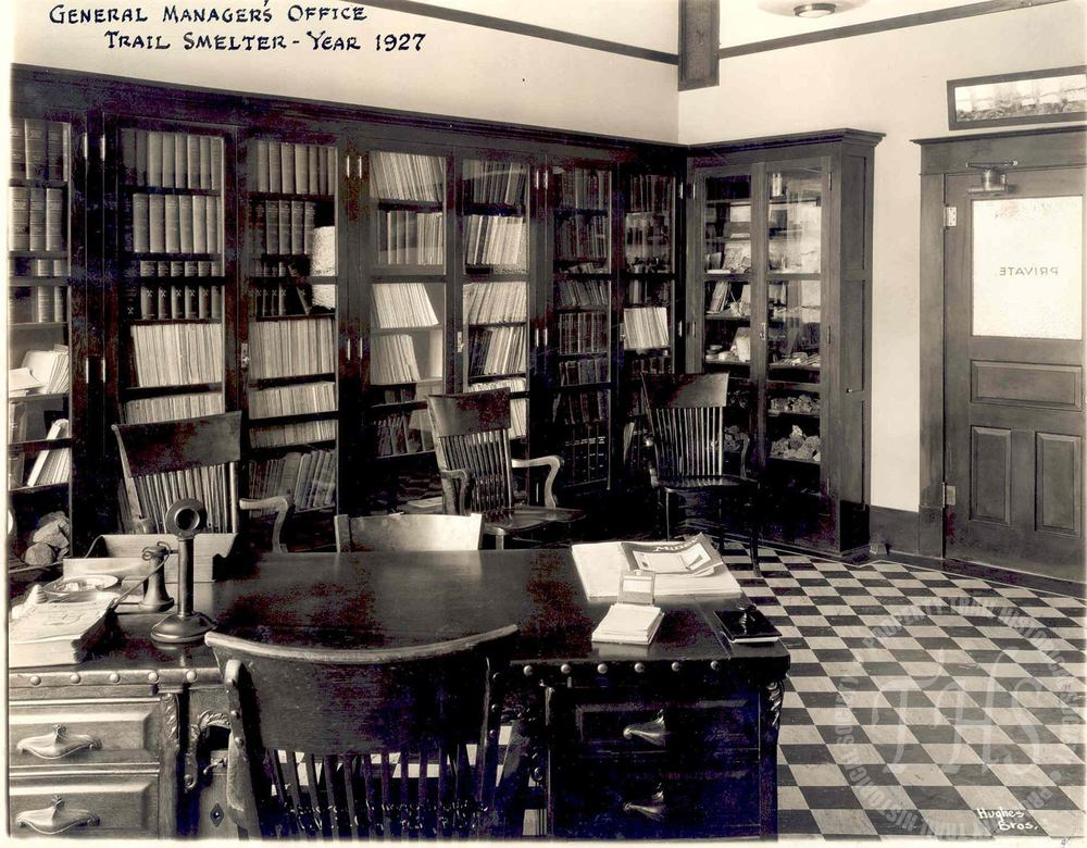 General Manager's Office (interior) (Hughes) - 1927
