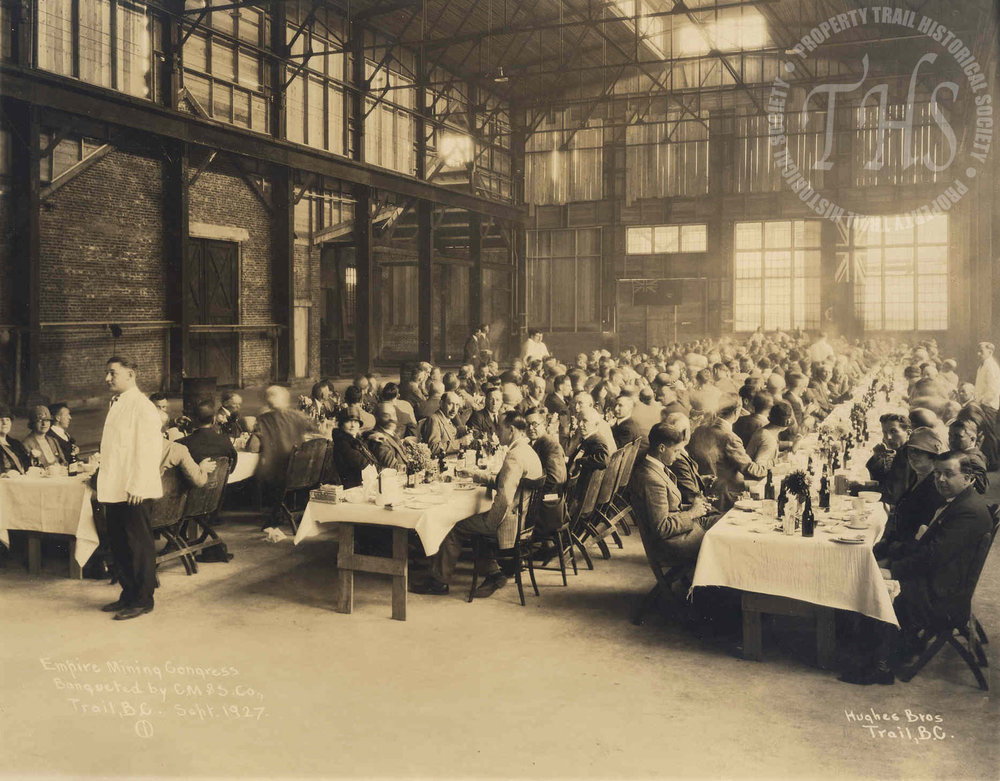 Empire Meeting Congress banquet, CM&S plant, Trail (Hughes) - 1927