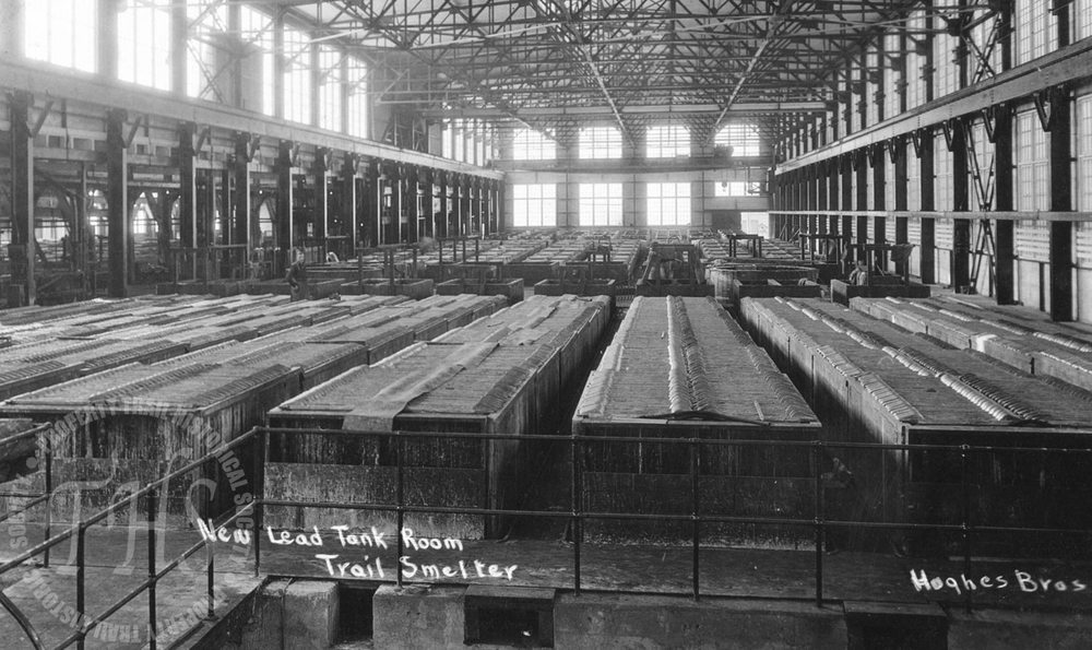 New lead tank room, Trail Smelter (Hughes) - 1928
