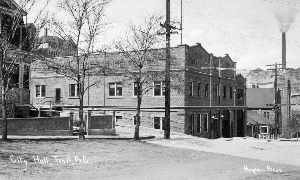 Trail City Hall and attached Fire Hall (Hughes) - 1930