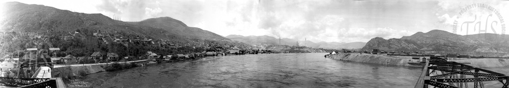 Trail & Columbia River from centre of Old Bridge(Hughes) - 1925