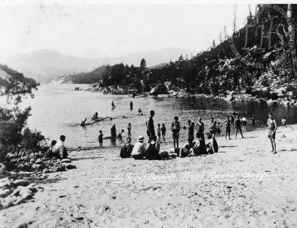 Sandy Island in East Trail, now known as Gyro Park (Hughes) - 1930