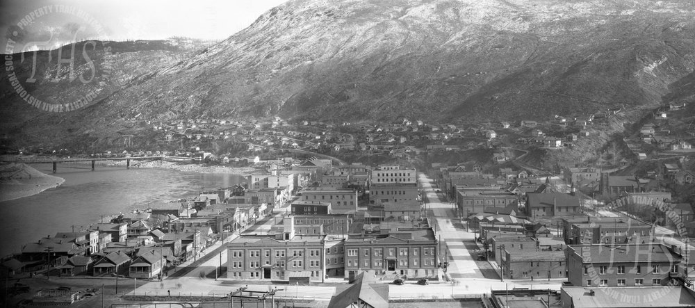 Downtown Trail from Smelter, new wing of hospital complete (Hughes) - 1935