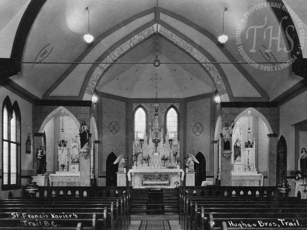 St. Francis Catholic Church interior, Pine Avenue (Hughes) - 1925