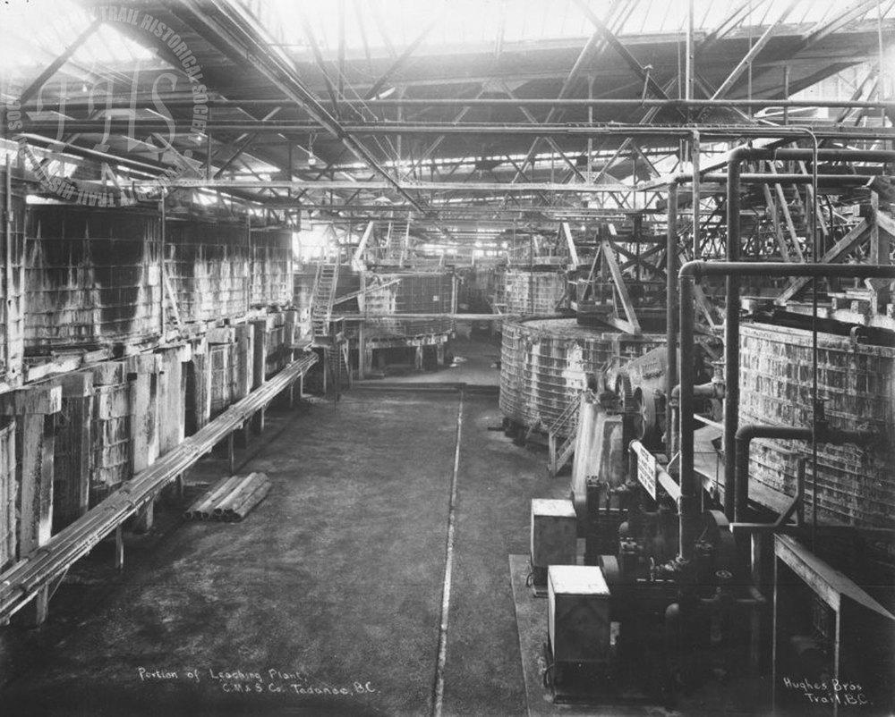Zinc sulphide leaching plant, Trail Smelter (Hughes) - 1930