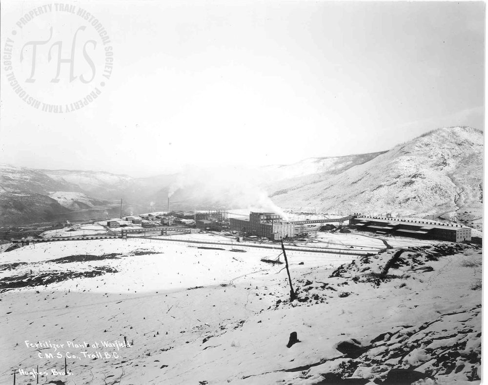 Warfield Fertilizer plant in winter (Hughes) - 1930