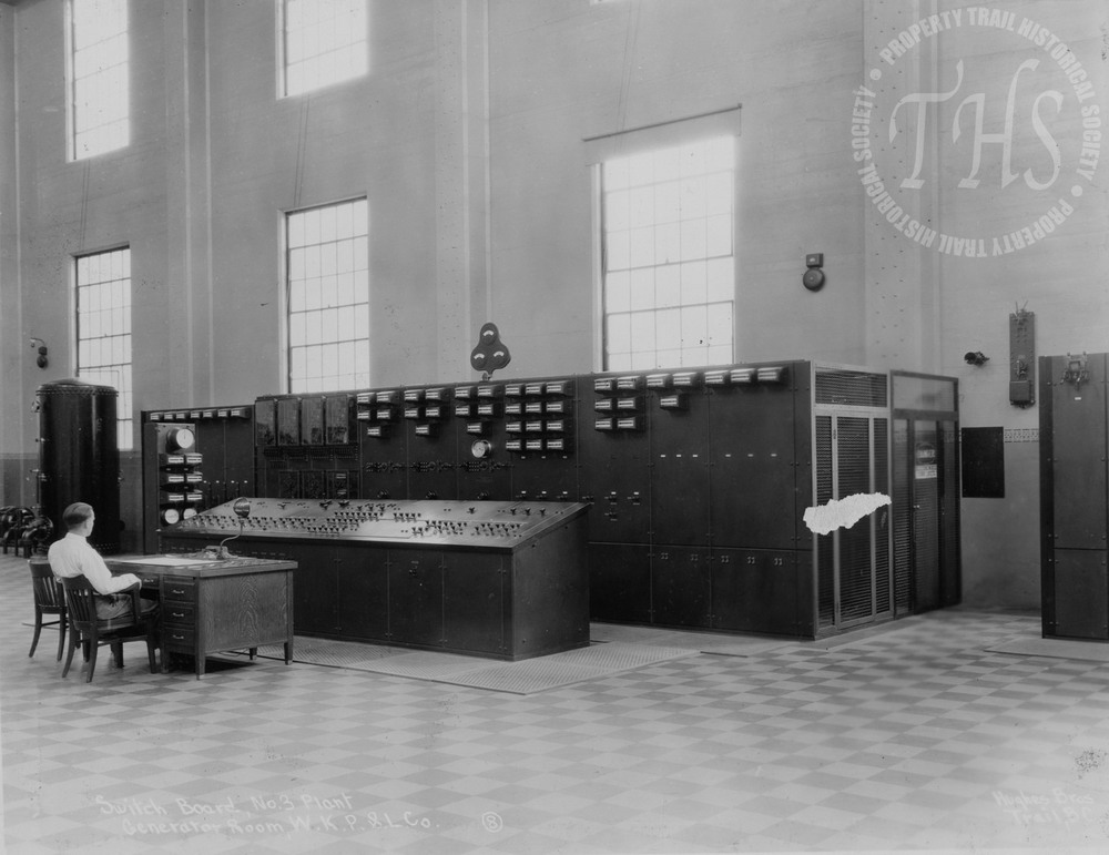 Switchboard, South Slocan plant generator room (Hughes) - 1930