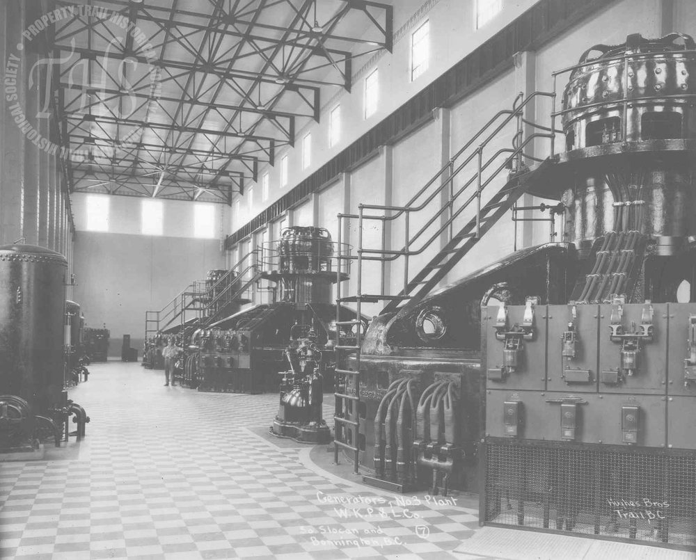 Generators, South Slocan plant (Hughes) - 1930