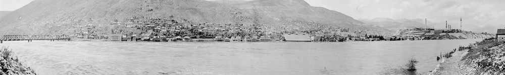 West Trail & Columbia River at high water (Hughes) - 1930