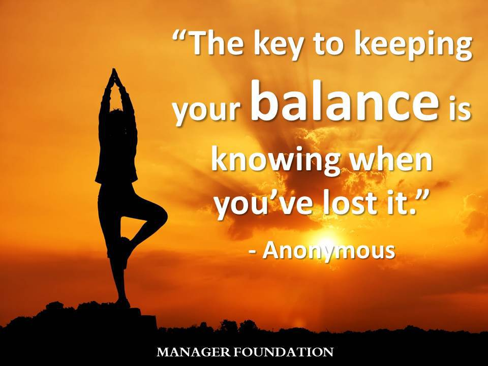 Anonymous The Key to keeping Your Balance Quote CD.jpg