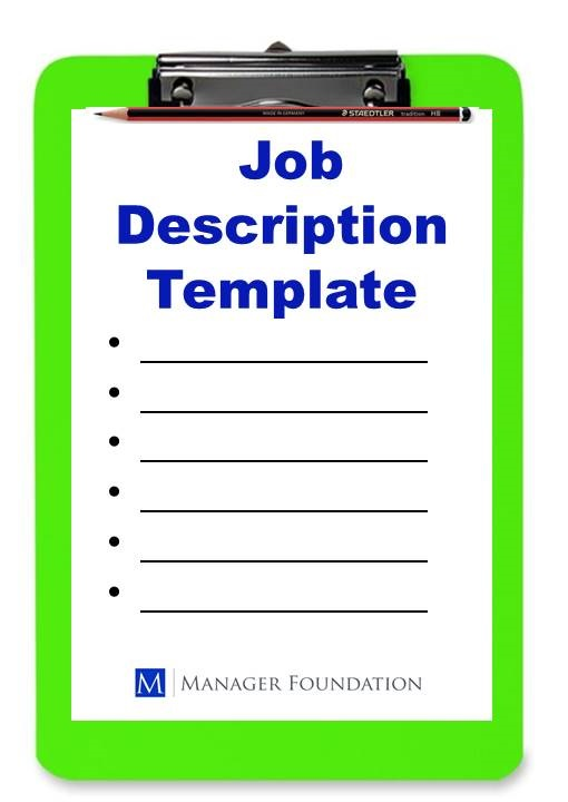 The manager foundation library manager foundation for Creating a job description template