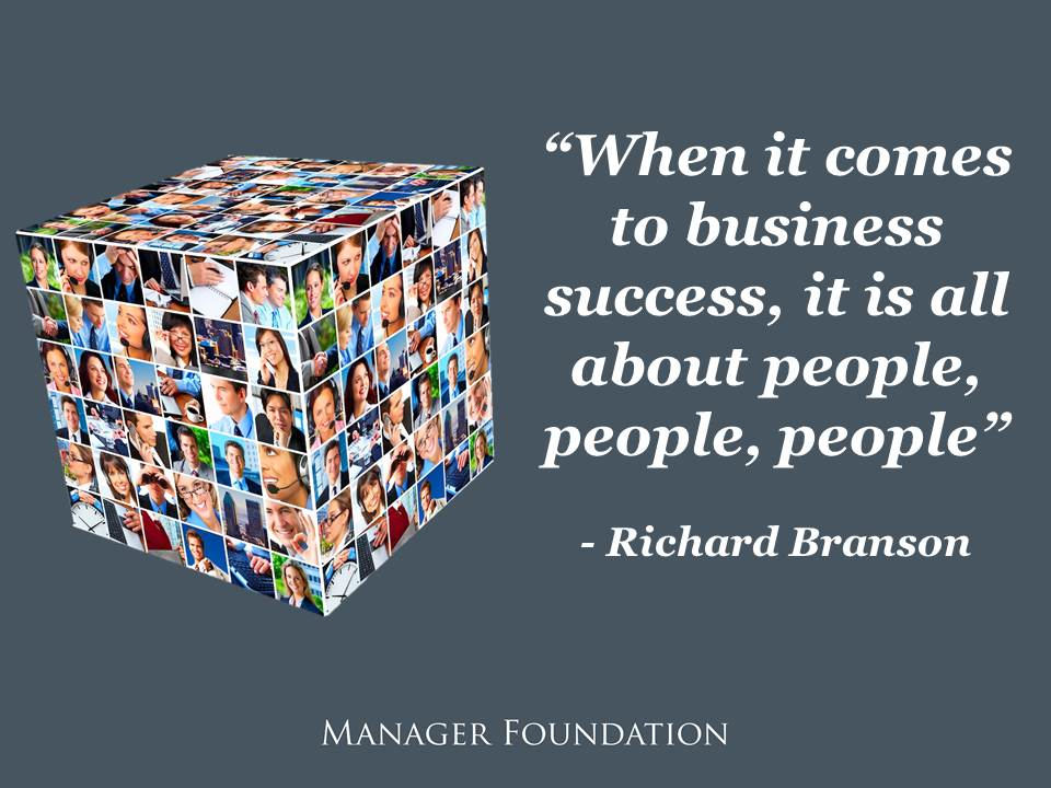 When it comes to business success it's all about people, people, people. Richard Branson on Hiring