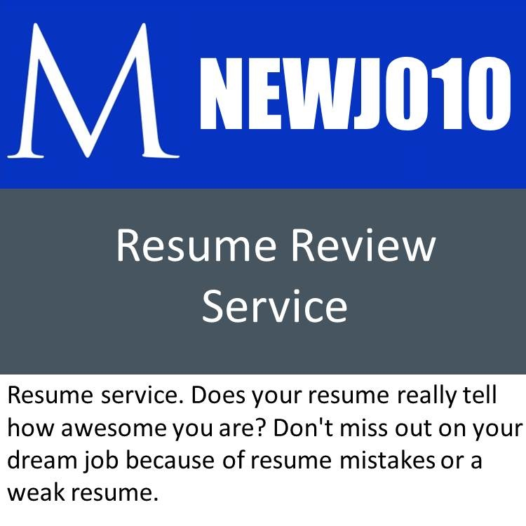 Resume Review Service Manager Foundation