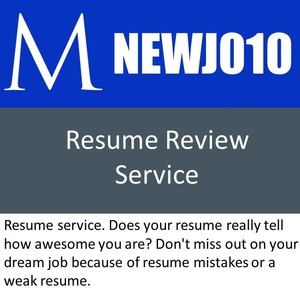 Professional resume review