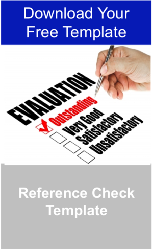 Reference Check Template — Manager Foundation