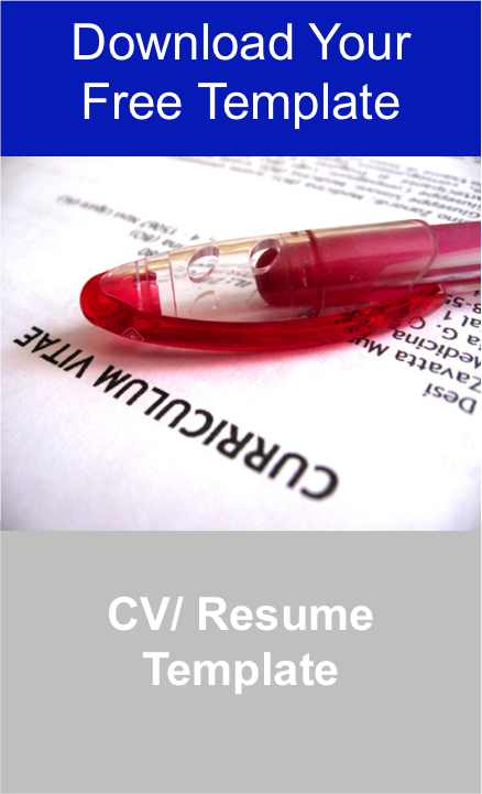 Download Your Free CV/ Resume Template to Find Out How to Write a Winning CV Jpeg