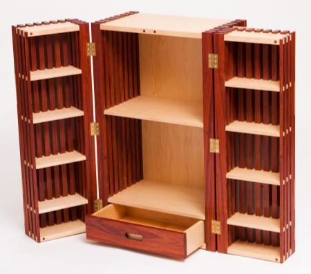 Paduk Liquor Cabinet — Rigby Lovett Fine Furniture