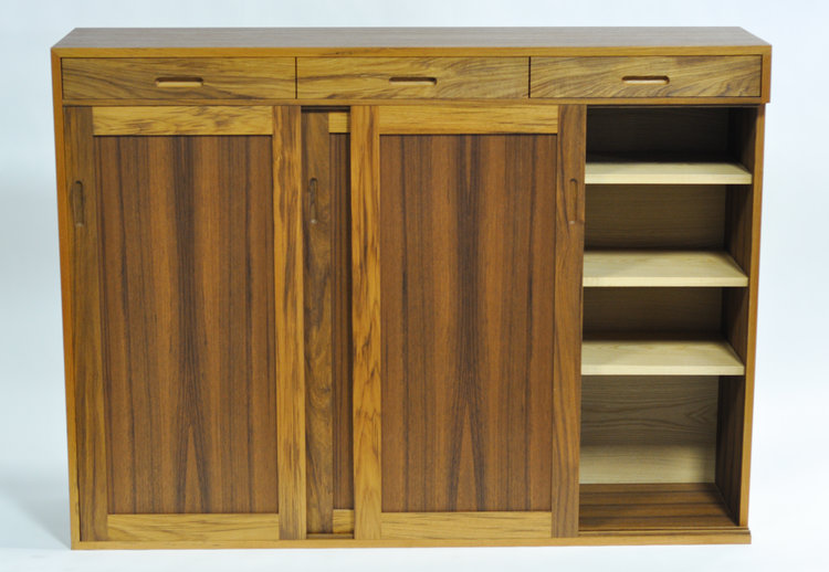 rigby cabinet shoe lovett fine furniture teak