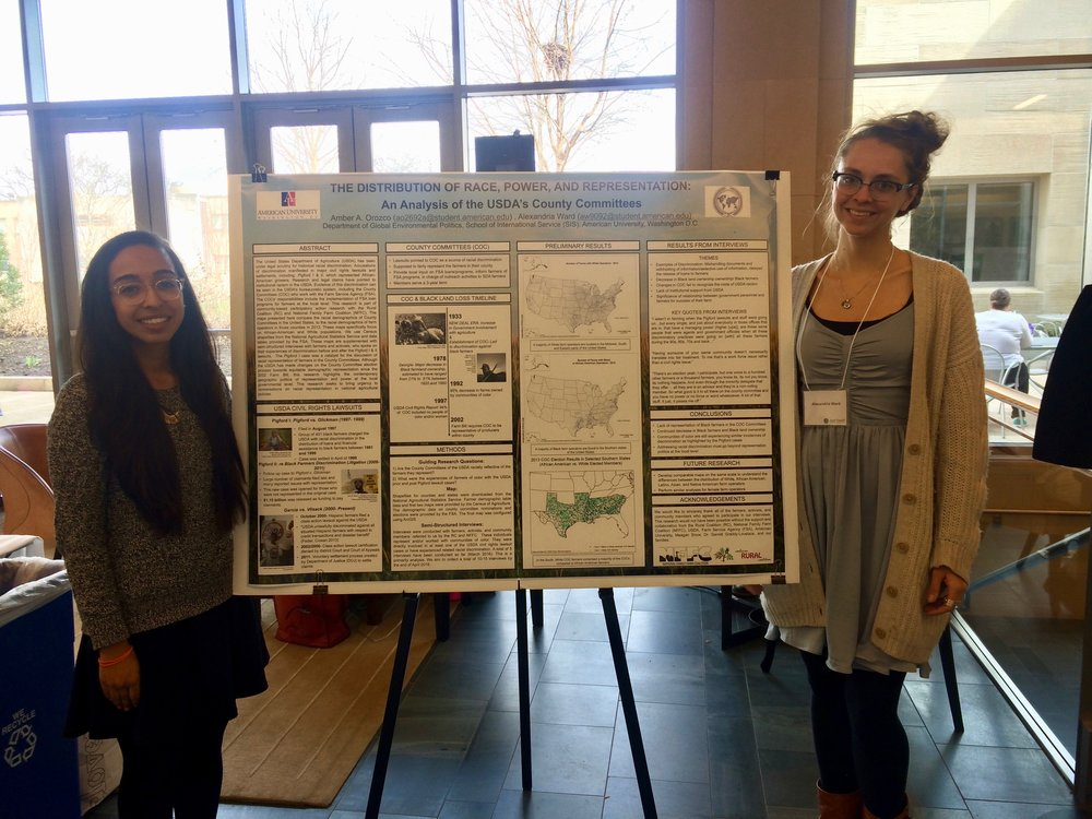 Amber and Alex with their poster at Harvard University's Just Food? conference