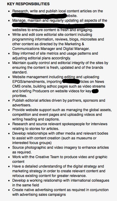 Doc640230 Digital Editor Job Description Digital Editor job – Digital Editor Job Description