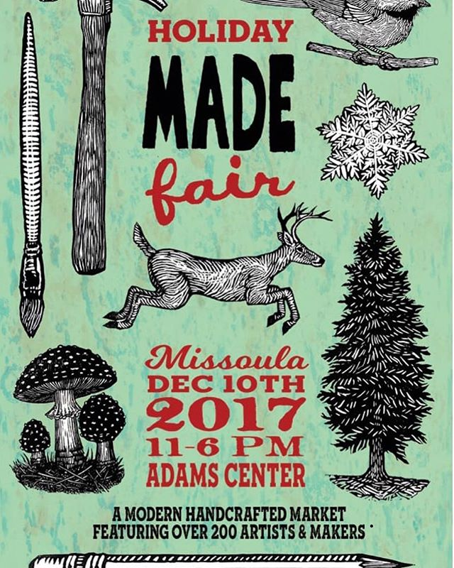 Check us out and other amazing artist and makers at the made fair this weekend!! It's going to be a super fun and we have huge deals! #recycledskateboards #recycledart #madefair #missoulamadefair