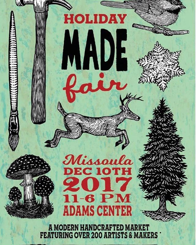 TODAY ONLY we will be at the #madefairmissoula #montana so let's get our shopping done and don't forget about the stocking stuffers!!! #upcycle #recycle #recycledart #recycledskateboardsintl