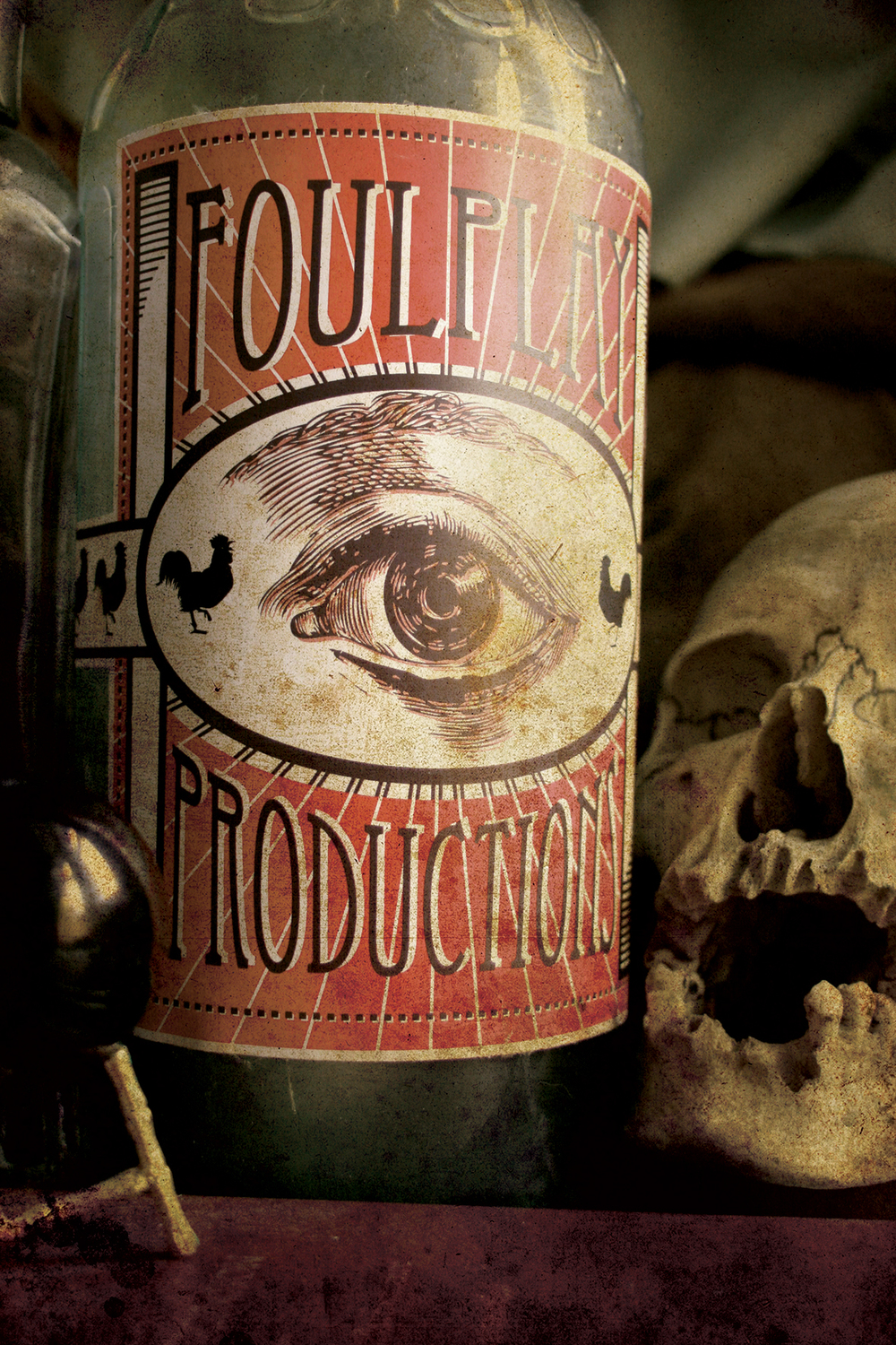 Poison bottle for FoulPlay Theatre company. Image for promo material. Photography and design by Ulysses Black 2010