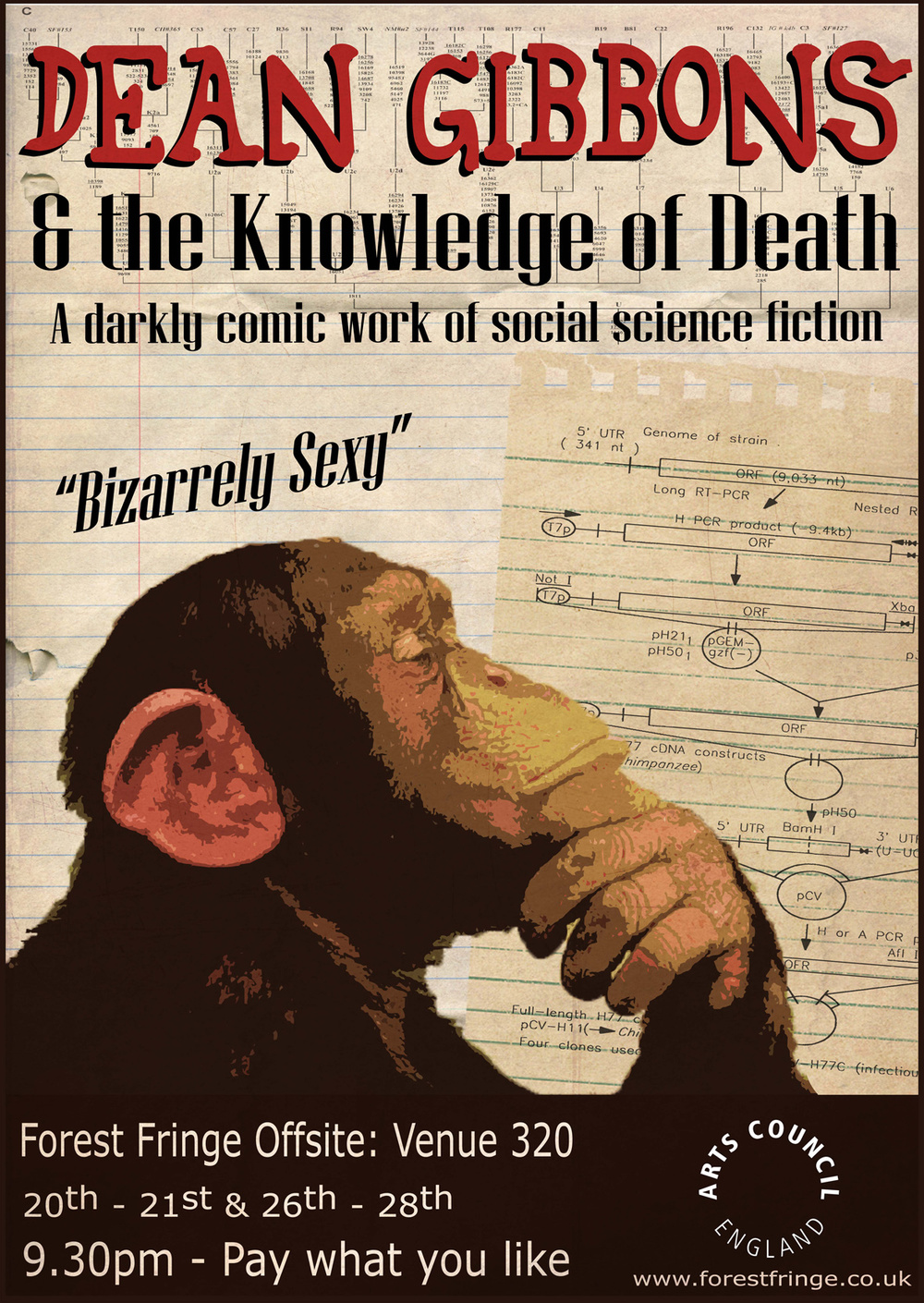 Theatre poster for Dean Gibbons and the Knowledge of Death by Inconvenient Spoof