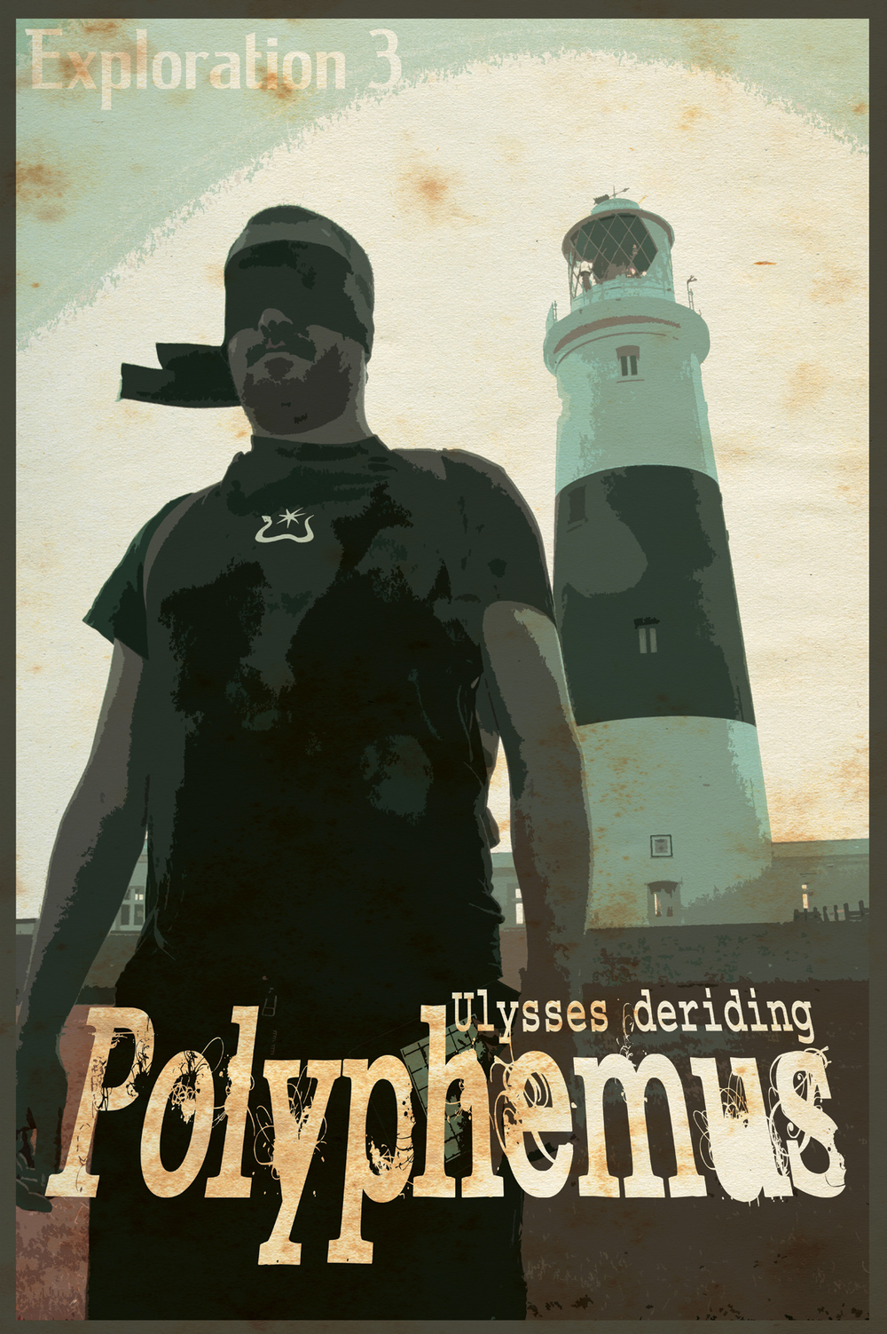 Poster for Exploration 3: Ulysses Deriding Polyphemus. Part of the Ulysses Black Initiative