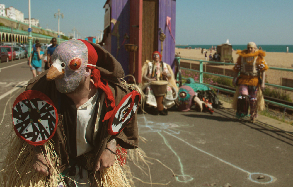 Ulysses Black performs the Pigeon Dance at the Brighton Fringe 2012 with the Terrible Shaman