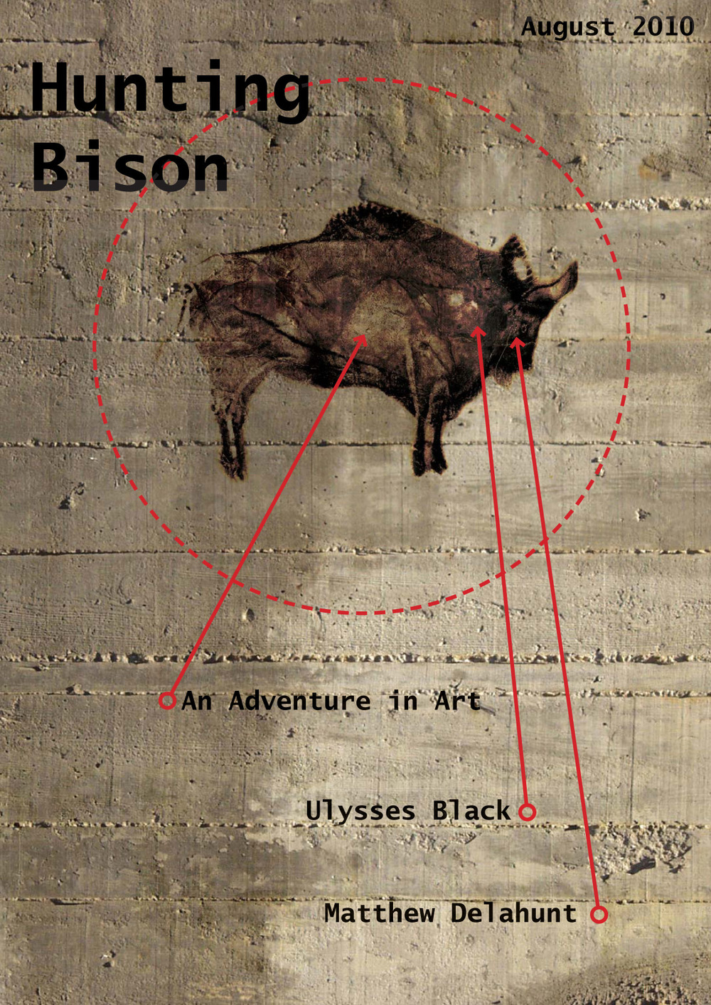 Cover designed for use in the pre Hunting Bison proposal material for viewing by prospective land owners.