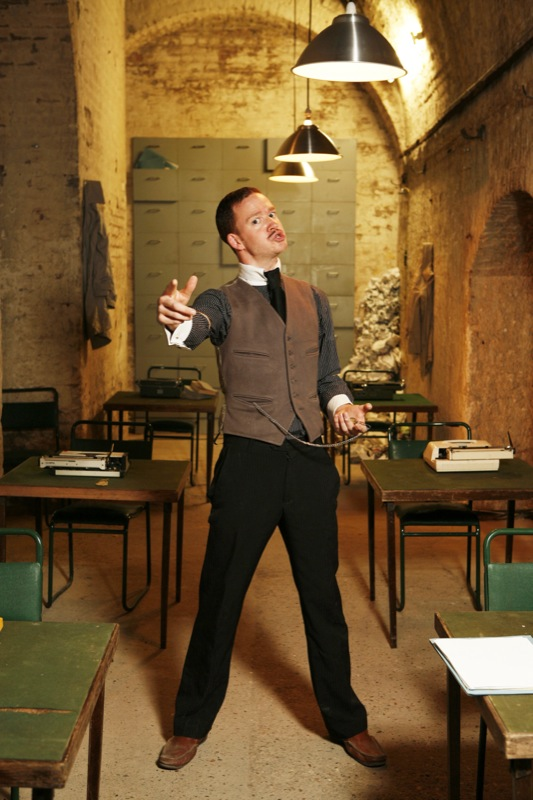Mr Meaner, head clerk at The Office of Correspondence, SHUNT Vault department. Photography by  christophersims.com