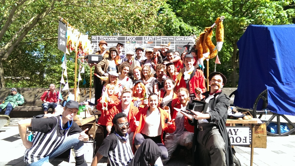 Click on the pic to see the fantastic teams of the Foxhunt @ The Brighton Festival Fringe
