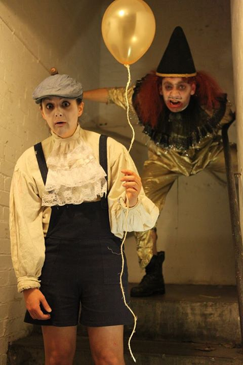 Little Jimmy (Annie Brooks) and his invisible stalker, The Clown (Jack Stigner). Photography by Christopher Simms.