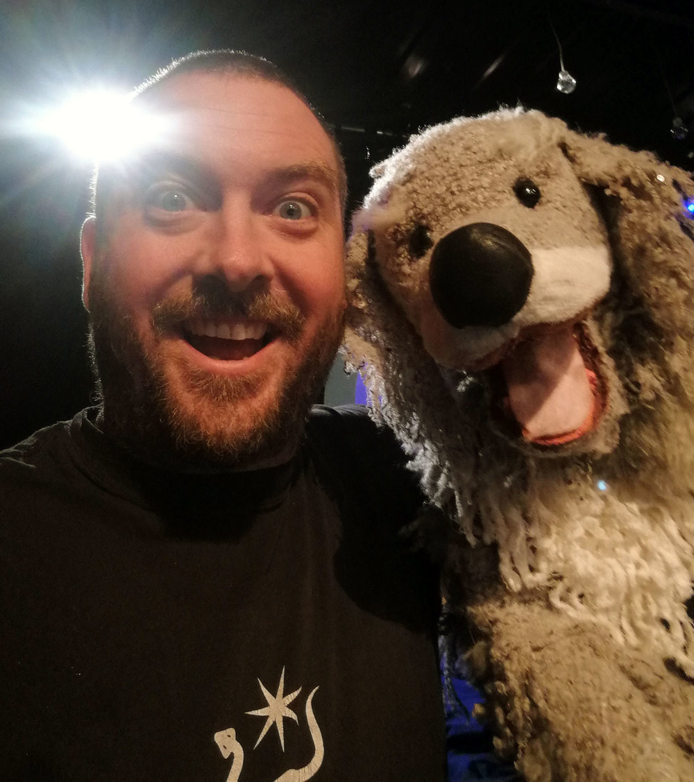 Puppeteering this canine fellow for Touched Theatre's  Twinkle Twinkle, 2018